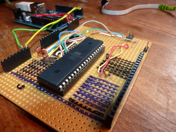 Setting up a sanguino w p with an arduino isp